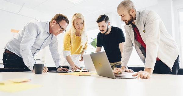 team working, digitalization, tech